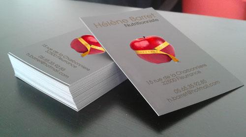 Cartes de visite à partir de seulement 250 ex